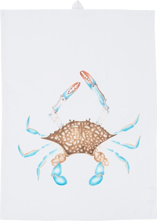 by Sorcia - theedoek Blue Crab - 50x70cm - katoen - designed in Holland