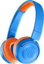 JBL JR300BT - Draadloze on-ear kids koptelefoon - Blauw/Oranje