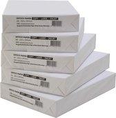 A4 papier Wit - 75 grams - doos a 5 pakken van 500 vel   Kopieerpapier   Printpapier