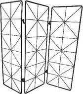 Raamscherm MELLE - Zwart - Metaal - Drieluik - 45 x 47 x 1 cm