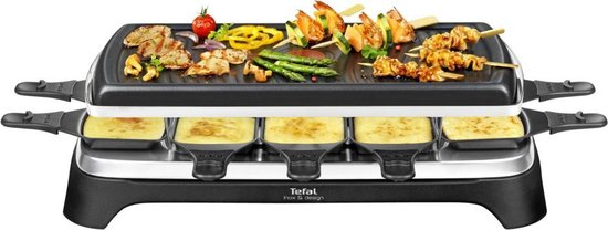 Tefal Inox & Design RE458812 - Gourmetstel - 10 pannetjes