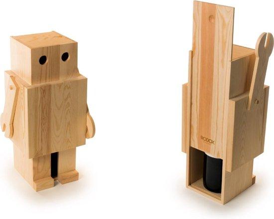 Rackpack Robox - Robot Wijnkistje - Geschenkdoos