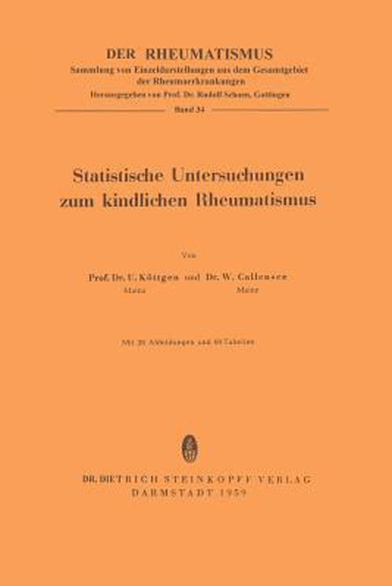 Statistische Untersuchungen Zum Kindlichen Rheumatismus