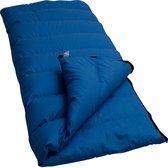 LOWLAND OUTDOOR® Donzen dekenslaapzak - Junior - 160 x 70 cm - Blauw - Dons - Katoen