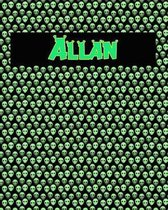 120 Page Handwriting Practice Book with Green Alien Cover Allan