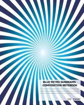 Blue Retro Sunbeams Composition Notebook