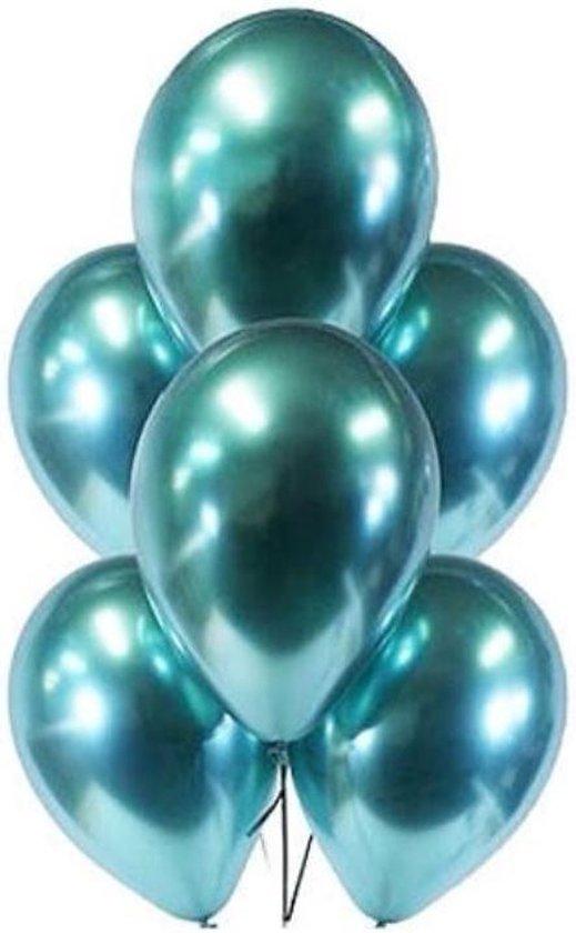 Set van 10 Metallic Ballonnen Groen | Latex Ballonnen | Feesten & Partijen