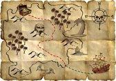 Rode Piraat Schatkaart - 4 stuks