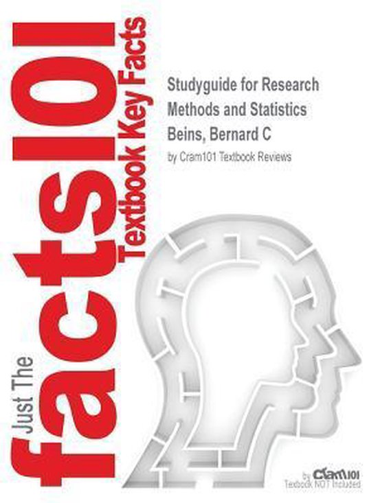 Boek cover Studyguide for Research Methods and Statistics by Beins, Bernard C, ISBN 9780205940677 van Cram101 Textbook Reviews (Paperback)