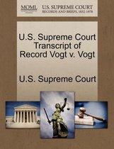 U.S. Supreme Court Transcript of Record Vogt V. Vogt