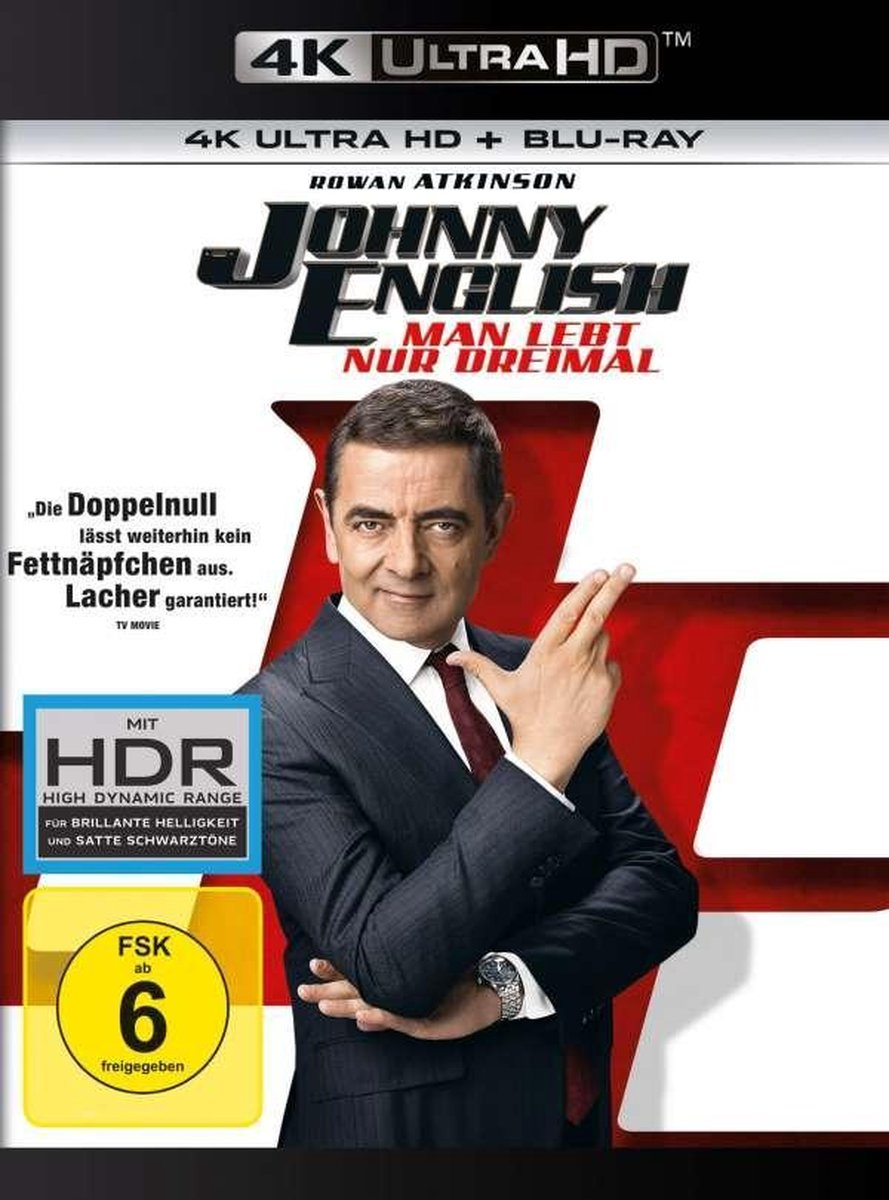 Johnny English Strikes Again (2018) (Ultra HD Blu-ray & Blu-ray)-