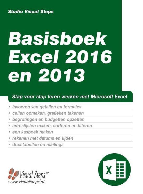 Basisboek Excel 2016 en 2013 - Studio Visual Steps |