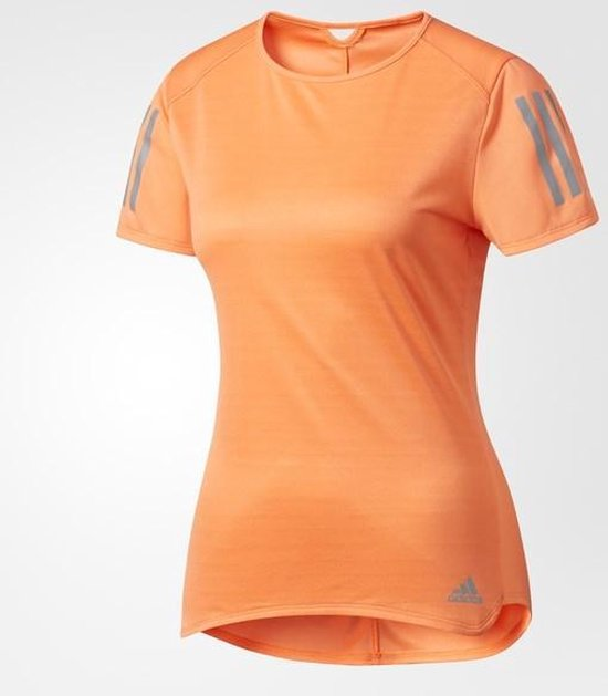 adidas Response Tee Sportshirt Dames L Easy Orange S17