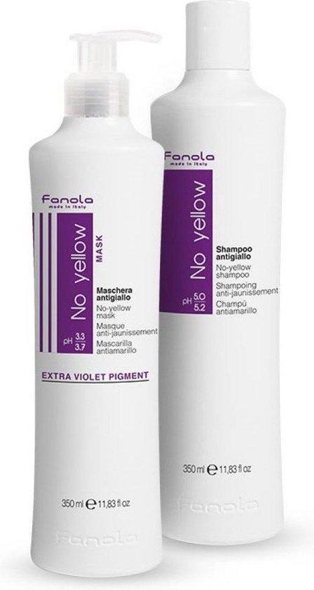 Fanola No Yello Shampoo + Masker set 350ml - Fanola