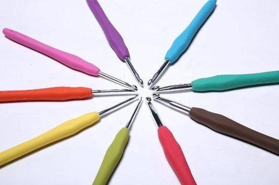 Afbeelding van Ergonomische 9-Delige Haaknaaldenset - Anti-slip Softgrip - Haaknaalden Set Met Ergonomisch Ontwerp speelgoed