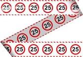 Markeerlint 25 jaar met stop bord