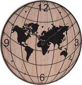 Wandklok - Landelijk - Hout - Wereld - Klokken - Klok - Analoog