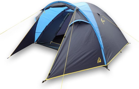 Best Camp Oxley Koepeltent - 4-persoons - Blauw
