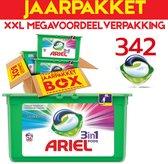 Ariel Colour & Style 3in1 Pods - Jaarbox 342 Wasbeurten - Wasmiddel Capsules - Jaar megavoordeelverpakking | 342 wasbeurten Color | Voor alle soorten was