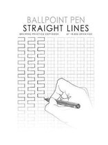 Ballpoint Pen Straight Lines Drawing Practice Copybook
