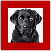 Labrador waakbord, zwarte Labrador
