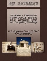 Salvatierra V. Independent School Dist U.S. Supreme Court Transcript of Record with Supporting Pleadings