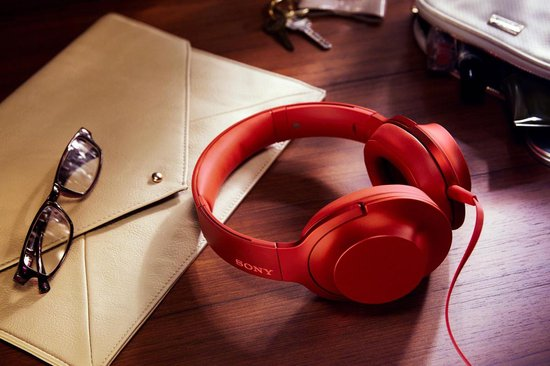 Sony h.ear MDR-100AAP - Hi-Res audio - Over-ear koptelefoon - Rood
