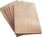 Papieren zakjes / cadeauzakjes 10x16 cm bruin 100 stuks