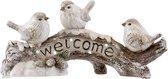 Cosy&Trendy 'Welcome' beeldje met vogels op tak