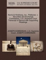 Omslag Norris & Hirshberg, Inc., Petitioner, V. Securities and Exchange Commission. U.S. Supreme Court Transcript of Record with Supporting Pleadings