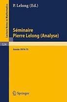 Seminaire Pierre Lelong (Analyse)