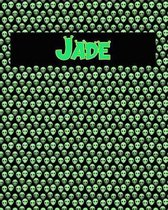 120 Page Handwriting Practice Book with Green Alien Cover Jade
