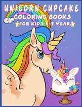Unicorn Cupcake Coloring Book for Kids 4-8 Years
