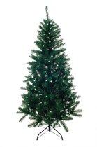 Kunstkerstboom smal met verlichting 300 LED en 210 cm hoog + GRATIS TAS