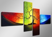 Art4-all - Canvas Schilderij Tree of Light - 160x70cm