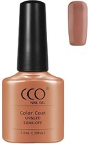 CCO Shellac - Satin Pajamas 90486 -Donkere Nude-Gel Nagellak