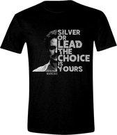 Narcos - Silver or Lead Mannen T-Shirt - Zwart - XXL
