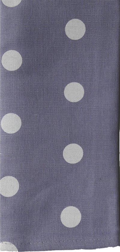Polka theedoek violet - set van 2