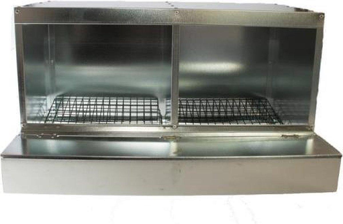 Dubbel Legnest gegalvaniseerd - Aluminium - Merkloos