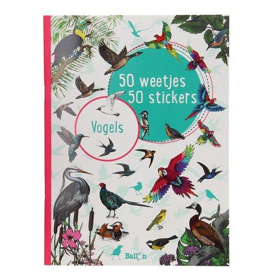 50 weetjes, 50 stickers - Vogels - 50 weetjes, 50 stickers |