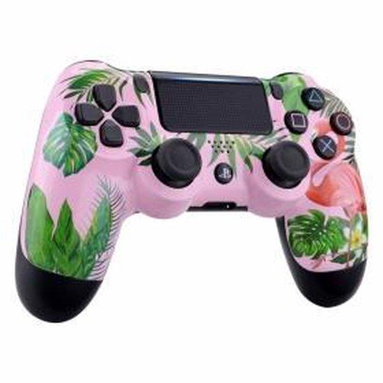 PS4, Wireless Dualshock 4 Controller V2 - Flamingo Custom - Merkloos