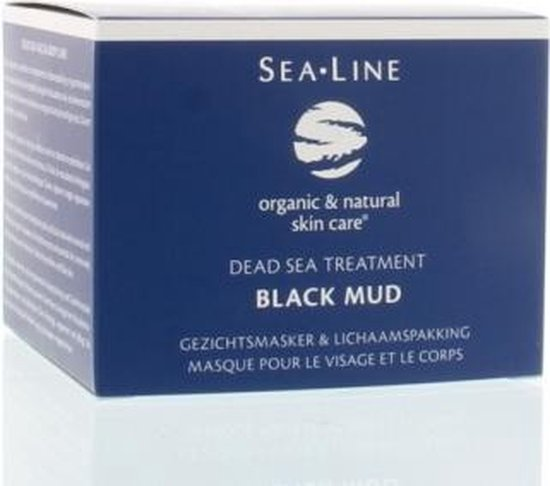 Sea line black mud facial mask and body pack 250ml