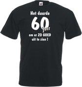 Mijncadeautje Unisex T-shirt zwart (maat L) Het duurde 60 jaar om er zo goed uit te zien