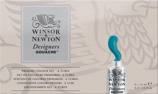 Winsor & Newton Desginers Gouache Primary Set 6 tubes x 14ml
