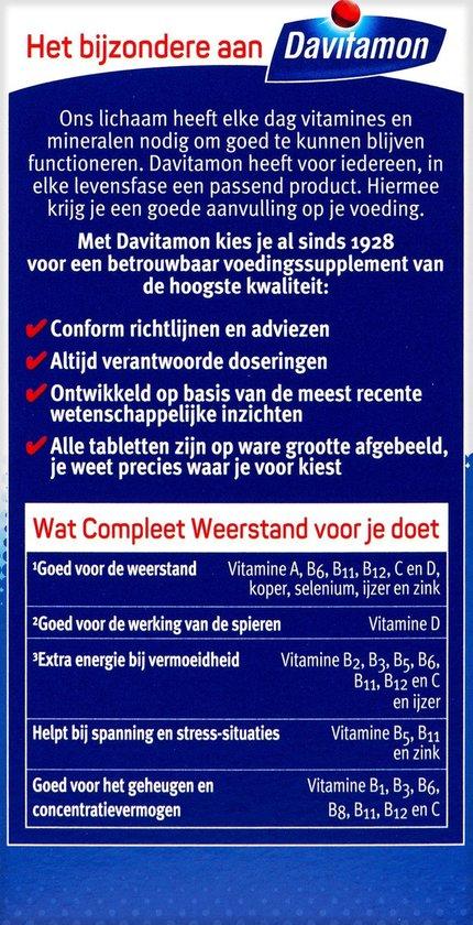 Davitamon Compleet Weerstand - multivitamine en mineralen - 400 dragees