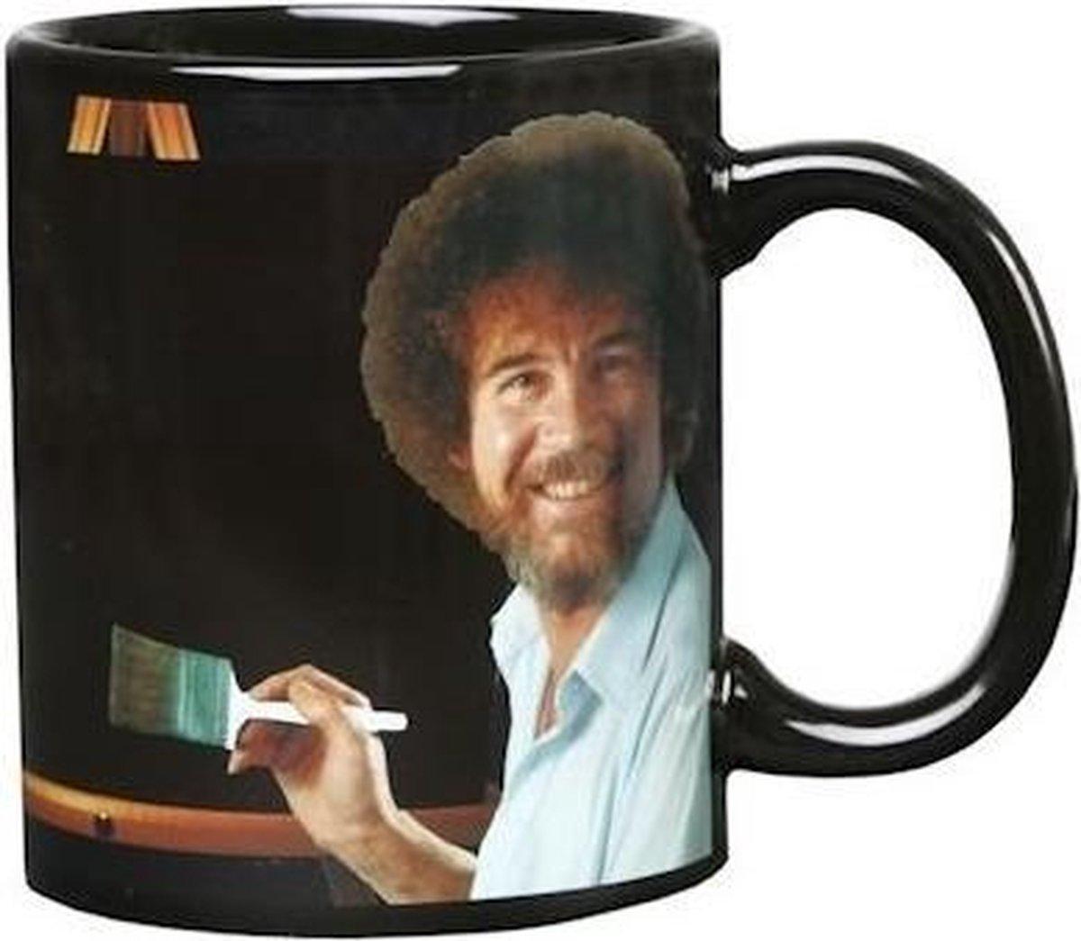 Bob Ross magische beker/mok 300 ml - Koffiemok/koffiebeker - Happy little t rees/accidents