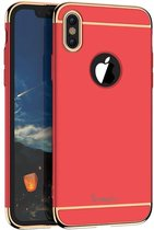 iPaky 3-in-1 Hardcase iPhone X - Rood/Goud