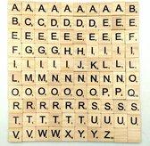 Houten blokjes met letters voor scrabble | Bordspel | Stukken |