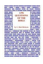 Boek cover 1396 Questions of the Bible van L Dale Richesin