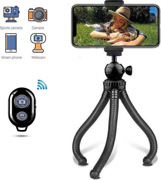 LURK® 3 in 1 Flexibele Octopus Tripod compact smartphone & camera statief – telefoon standaard universeel met bluetooth afstandsbediening – selfie stick / verstelbaar statief